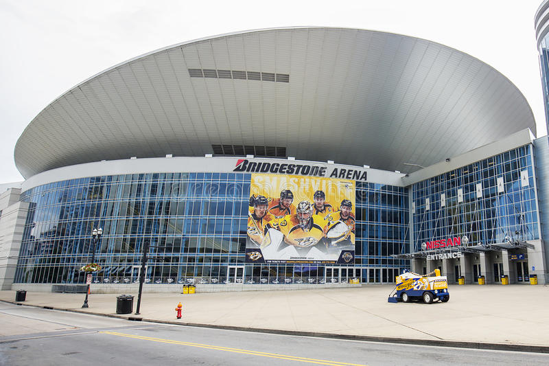 Bridgestone Arena Closeup stock photography