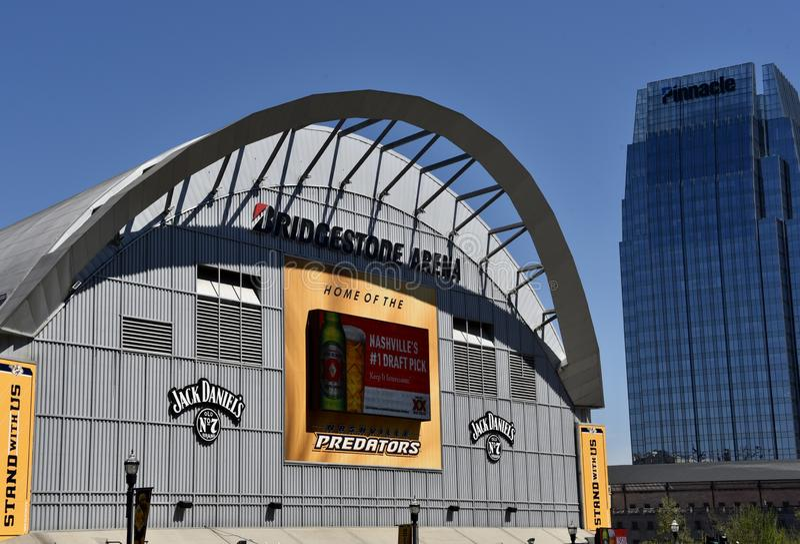 Bridgestone Arena Home of the Predators, Nashville, Tennessee. Bridgestone Arena Home of the Predators, The Nashville Predators are a professional ice hockey royalty free stock image
