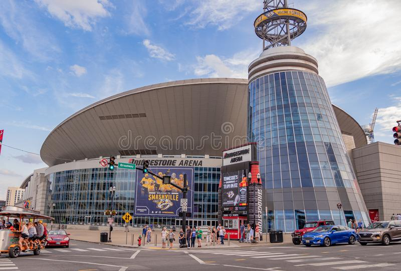 Bridgestone Arena in Nashville - NASHVILLE, USA - JUNE 15, 2019 royalty free stock image