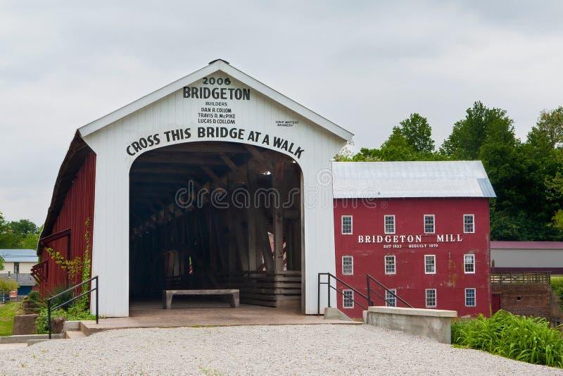 Bridgeton-überdachte Brücke stockbilder
