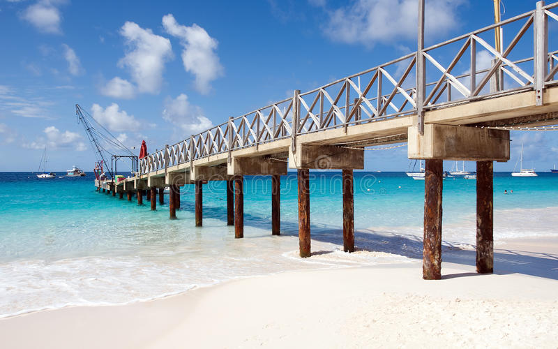 Bridgetown, Barbados - Brownes beach - Carlisle bay. Bridgetown, Barbados - Tropical island - Caribbean sea - Brownes beach - Carlisle bay stock photography