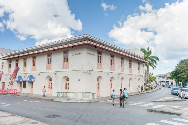 BRIDGETOWN, BARBADOS - 10 MARZO 2014: Le Barbados Città Vecchia Corridoio Isola di mar dei Caraibi fotografia stock