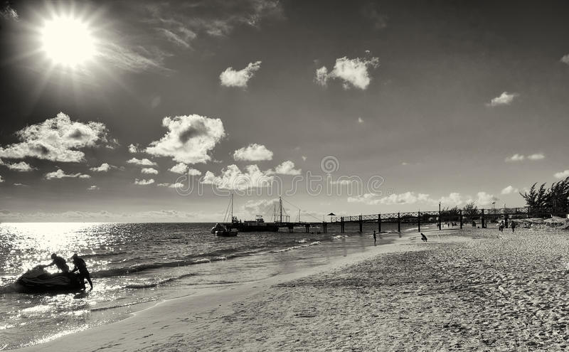 Bridgetown, Barbados - Pier at Brownes beach in Carlisle bay royalty free stock photos