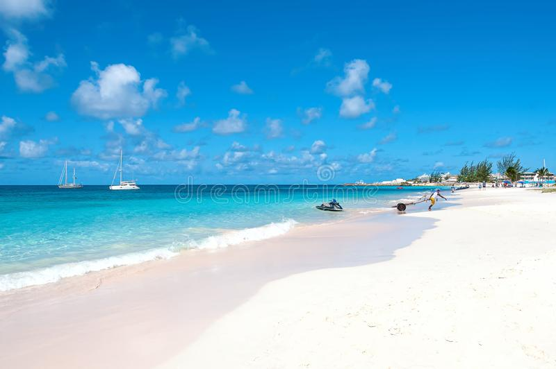 Bridgetown, Barbados - Tropical island - Caribbean sea - Brownes beach - Carlisle bay stock photo