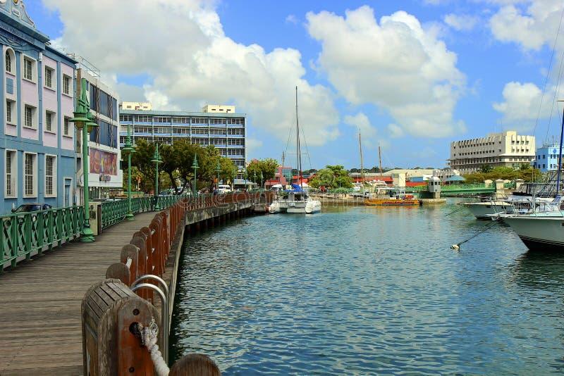 Bridgetown-Stadtmitte, Barbados lizenzfreie stockbilder