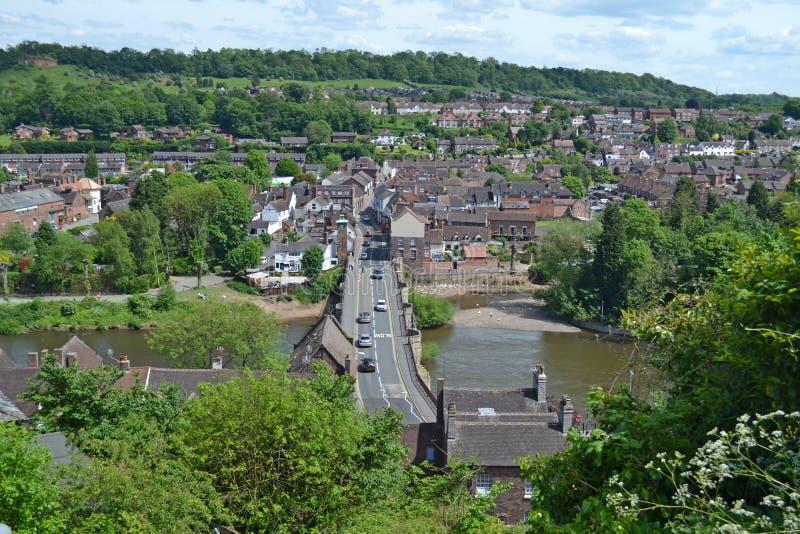 Bridgnorth Bridge View stock photo