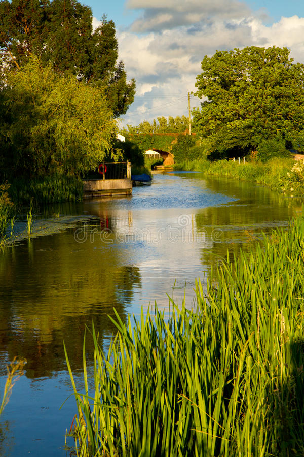 Bridgwater and Taunton Canal Somerset. The Bridgwater and Taunton Canal near the village of Creech St Michael, Taunton England royalty free stock photos