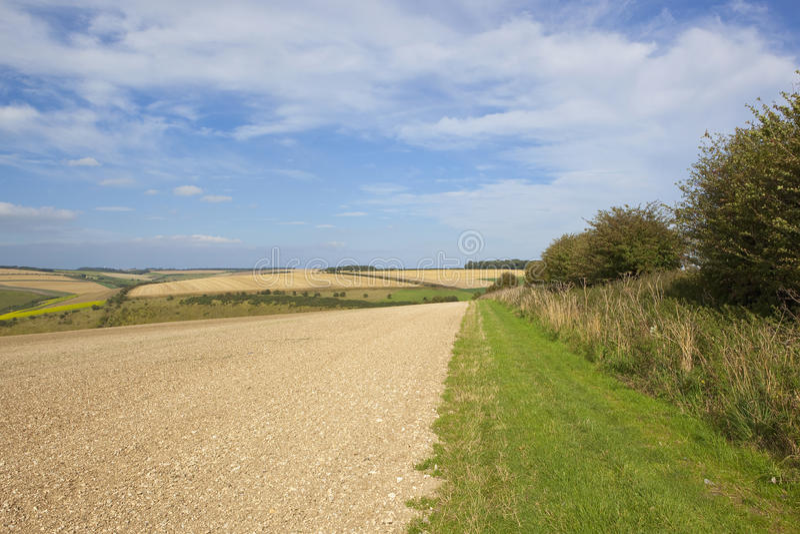 Bridleway και καλλιεργημένο χώμα στοκ εικόνα