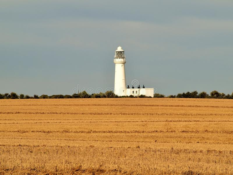 Bridlington к маяку пути головы flamborough прибрежному стоковые изображения