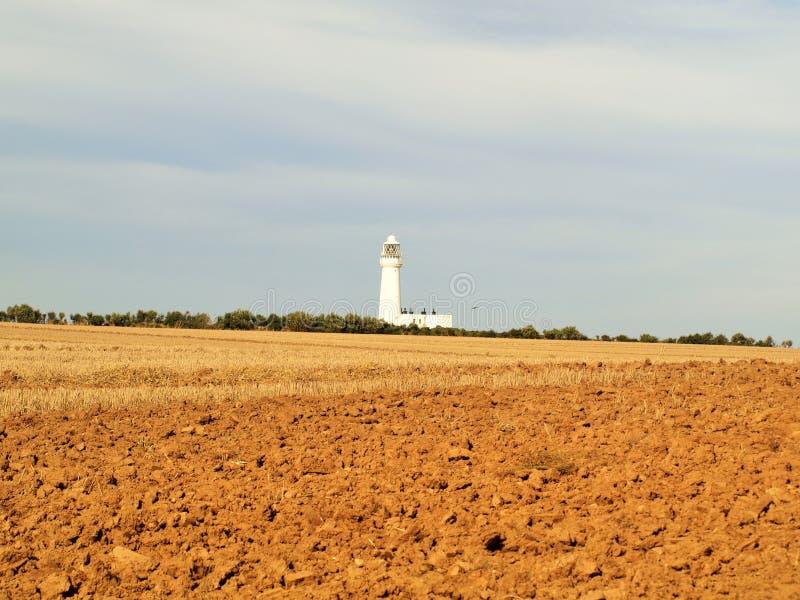 Bridlington к маяку пути головы flamborough прибрежному стоковая фотография