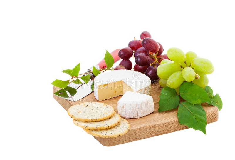 Download Brie stock photo. Image of snack, grapes, wedge, food - 30626838