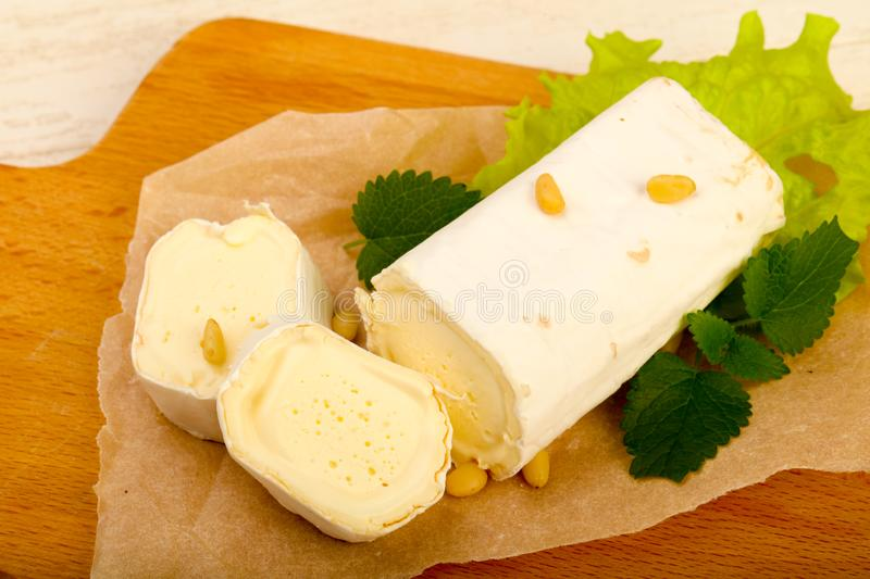 Brie cheese roll royalty free stock photography