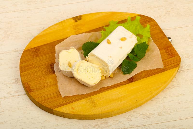 Brie cheese roll stock photos