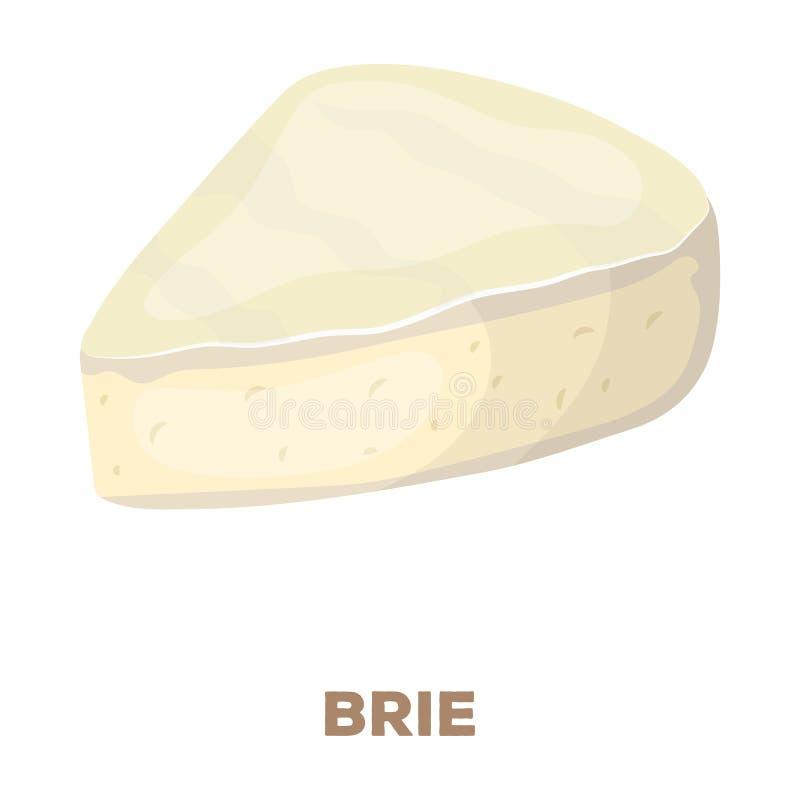 brie De verschillende soorten kaas kiezen pictogram in beeldverhaalstijl rater uit, bitmap de illustratieweb van de symboolvoorra stock illustratie