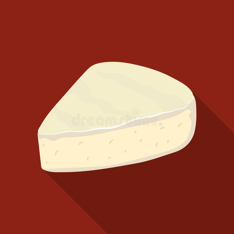 brie De verschillende soorten kaas kiezen pictogram in het zwarte Web van de de voorraadillustratie van het stijl vectorsymbool u vector illustratie