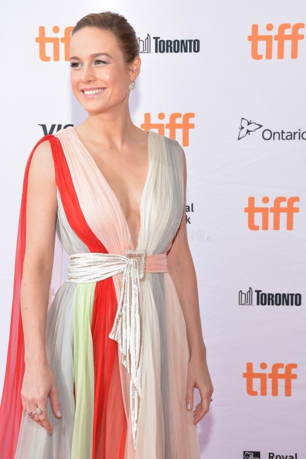 Brie Larson assiste à la première de ` d'Unicorn Store de ` au festival 2017 de film international de Toronto photo libre de droits