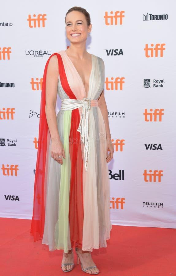 Brie Larson assiste al prima del ` di Unicorn Store del ` al festival cinematografico 2017 dell'internazionale di Toronto fotografie stock libere da diritti