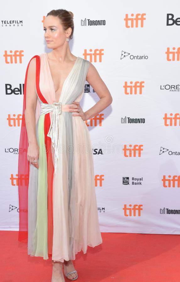 Brie Larson assiste al prima del ` di Unicorn Store del ` al festival cinematografico 2017 dell'internazionale di Toronto fotografia stock