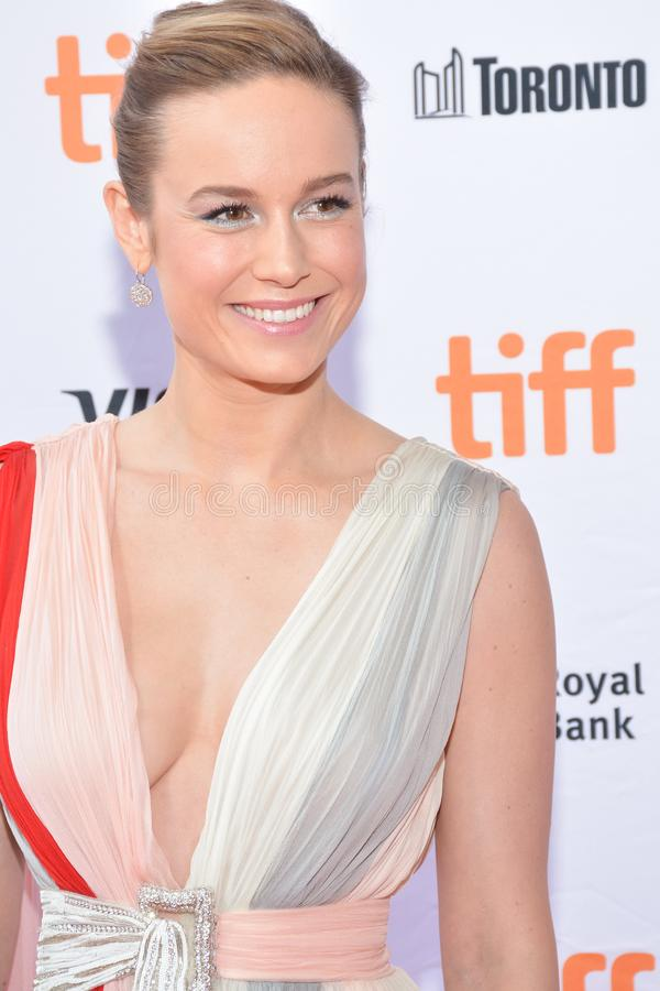 Brie Larson assiste al prima del ` di Unicorn Store del ` al festival cinematografico 2017 dell'internazionale di Toronto immagine stock libera da diritti