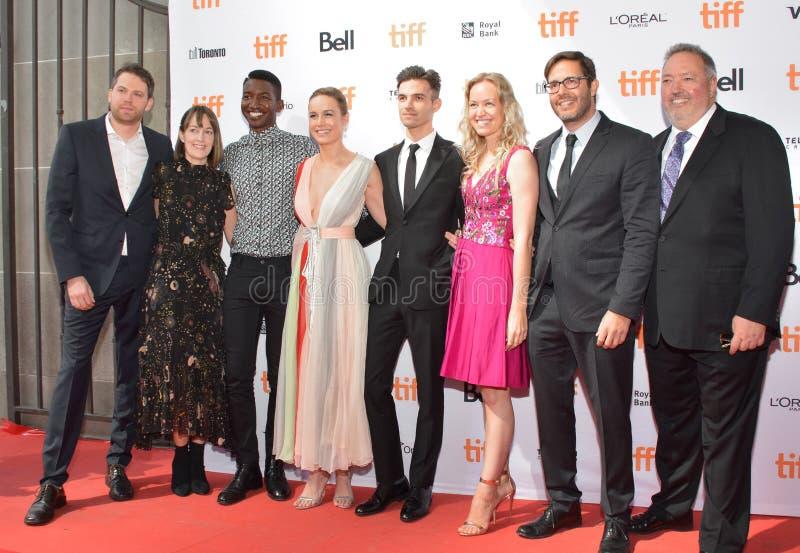 Brie Larson e squadra al prima del ` di Unicorn Store del ` al festival cinematografico 2017 dell'internazionale di Toronto immagine stock