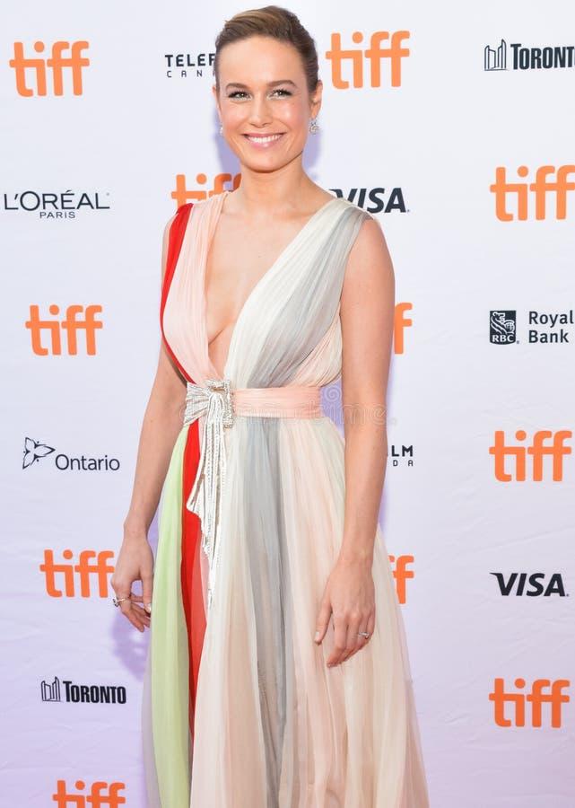 Brie Larson woont de première van ` Unicorn Store ` op Internationaal de Filmfestival van Toronto van 2017 bij stock fotografie