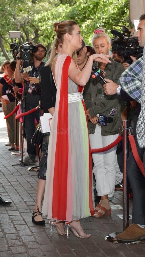 Brie Larson woont de première van ` Unicorn Store ` op de Internationale Film Festiva van Toronto van 2017 bij stock afbeeldingen