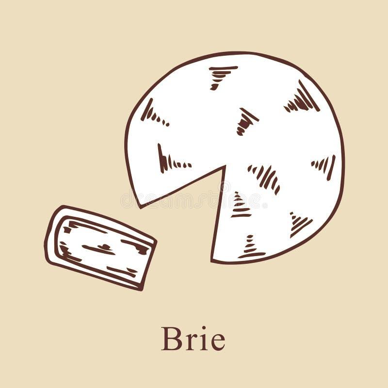 Brie vectorillustratie in beeldverhaalstijl stock illustratie