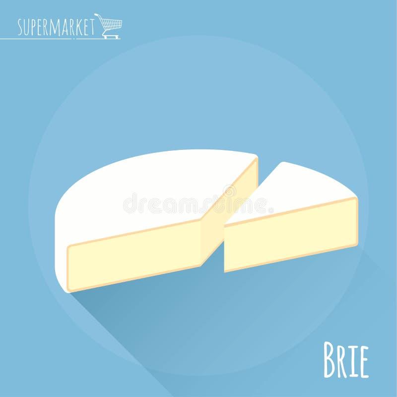 Brie vectorpictogram stock illustratie