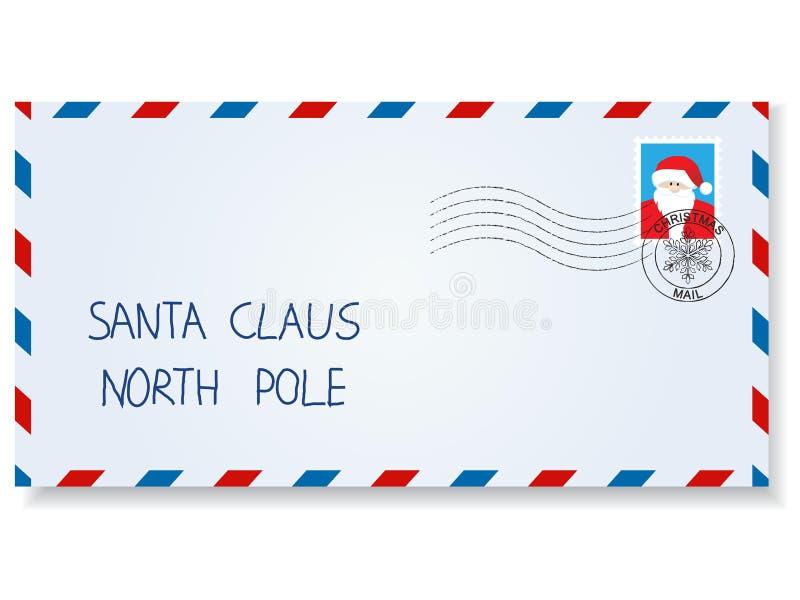 Brief aan de Kerstman royalty-vrije illustratie