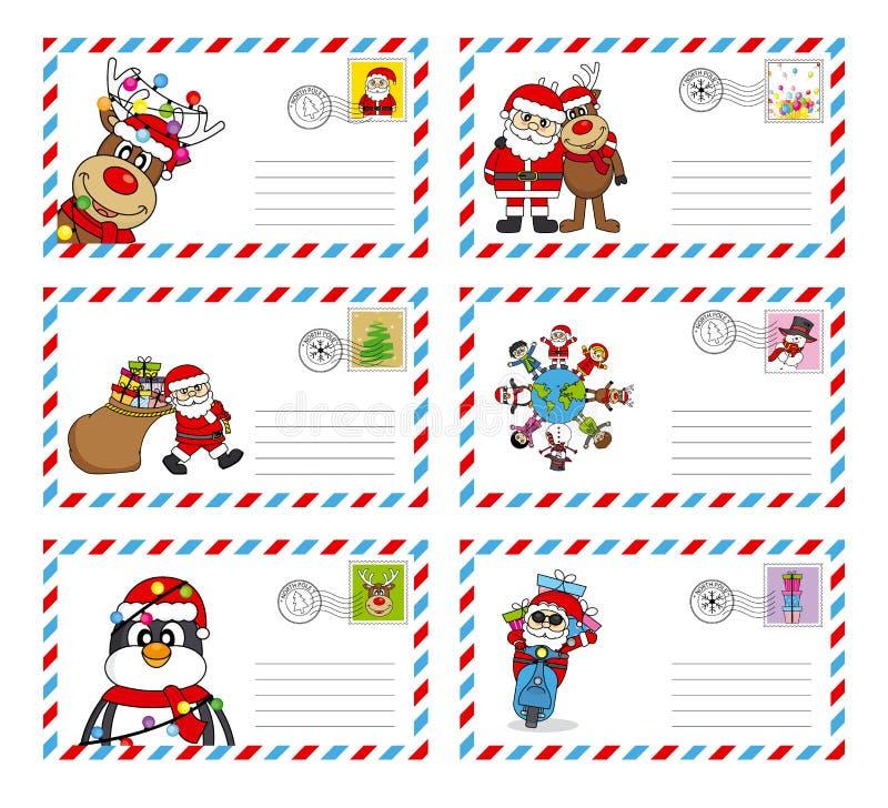 Brief aan de Kerstman stock illustratie