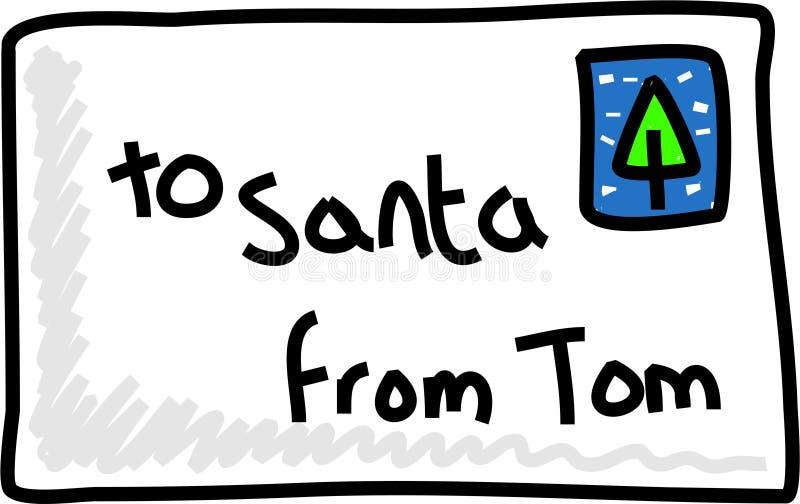 Brief aan santa royalty-vrije illustratie