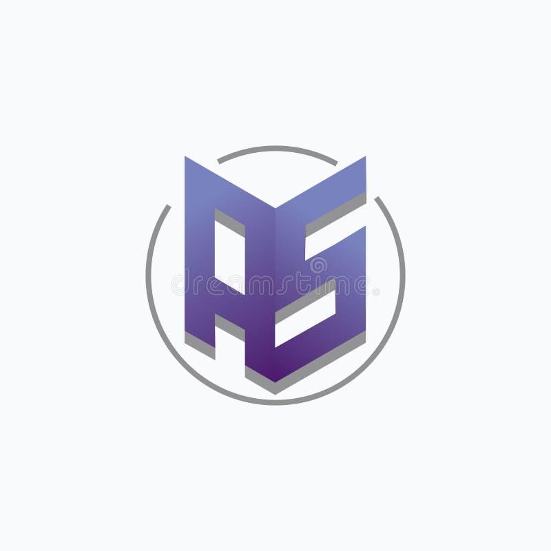 Brief als het ontwerp blauwe kleur van het pictogramembleem voor bedrijf royalty-vrije illustratie