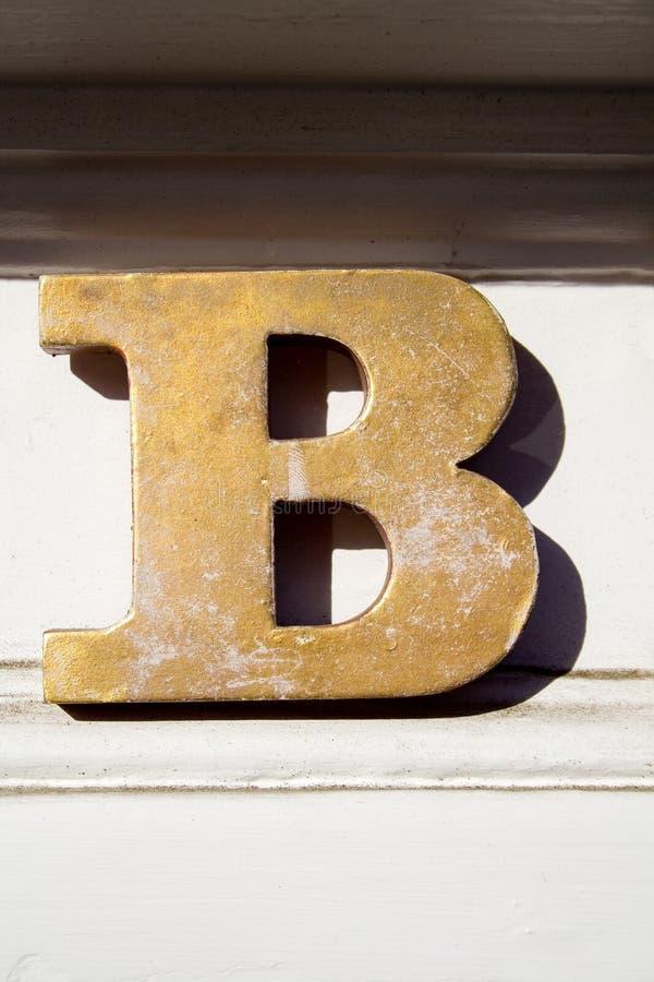 Brief B royalty-vrije stock foto's