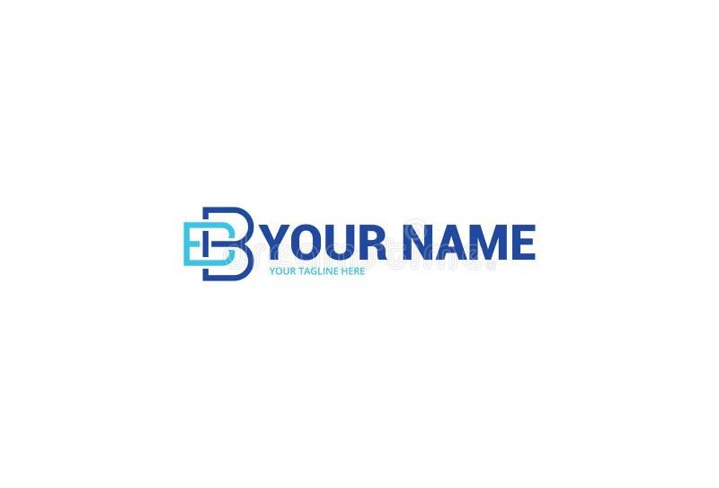 Brief B Logo Design stock illustratie