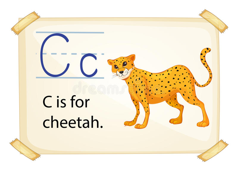 Brief C royalty-vrije illustratie