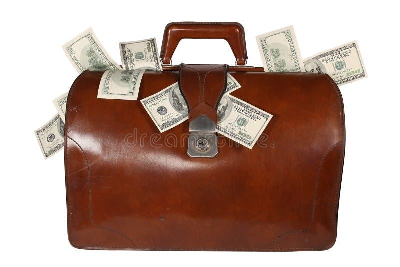 Brief-case with money stock photo