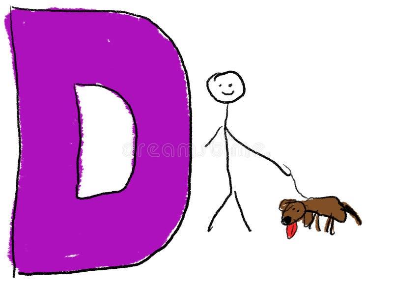 Brief D stock illustratie