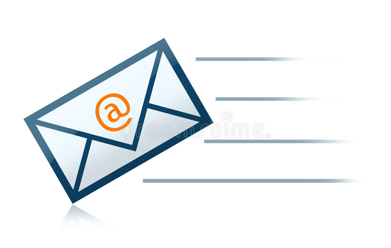 Brief de e-mail van de Envelop stock illustratie