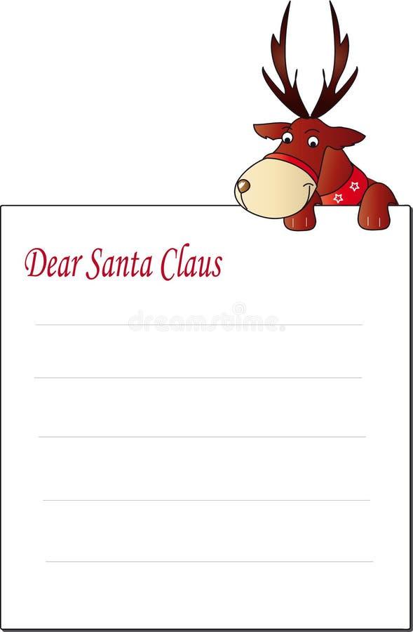 Brief de Kerstman stock illustratie