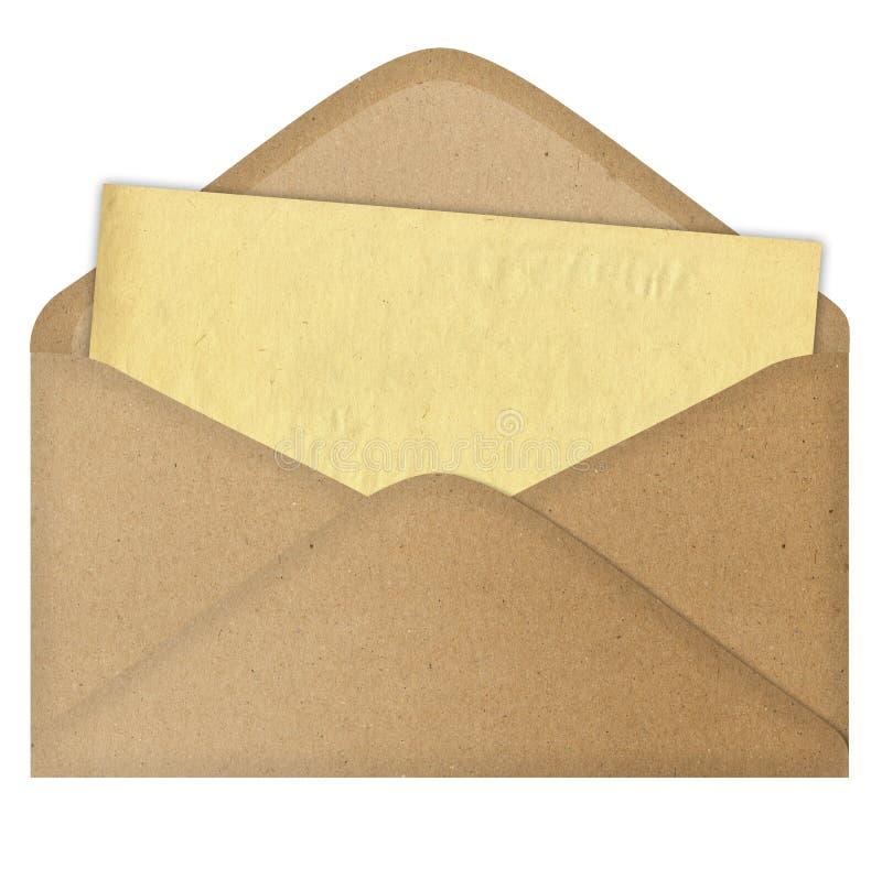 Brief in een envelop stock afbeeldingen