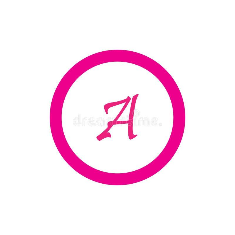 Brief een vector het pictogramontwerp van Logo Template royalty-vrije illustratie