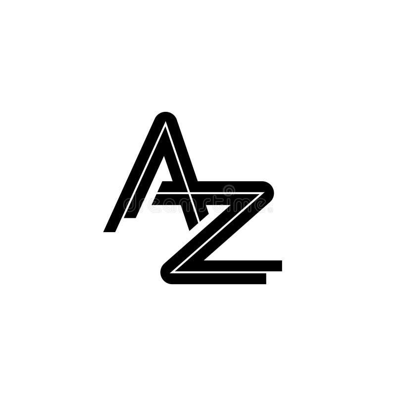 Brief een z-vector van de embleemontwerpsjabloon royalty-vrije illustratie