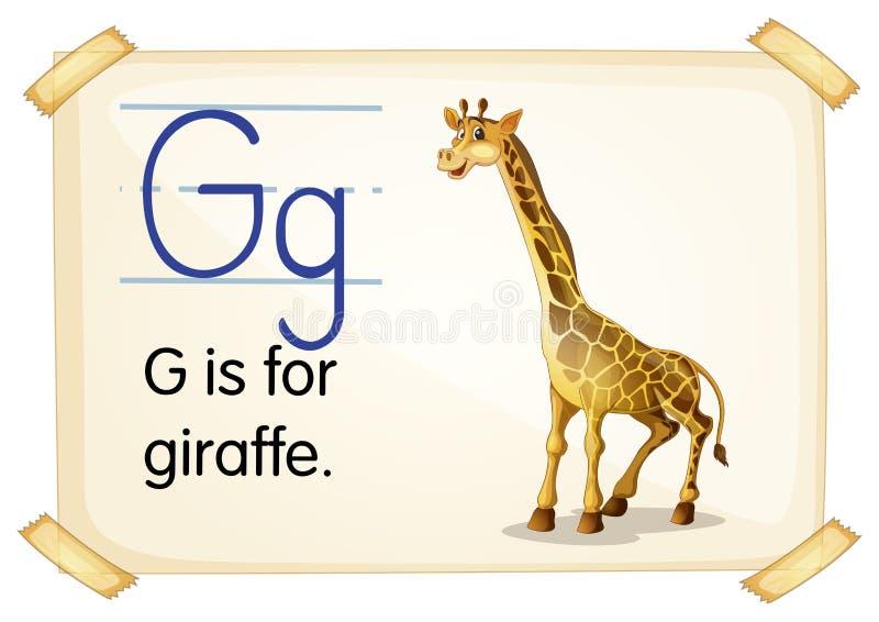 Brief G royalty-vrije illustratie