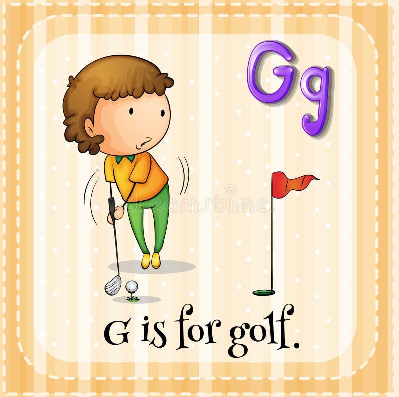 Brief G vector illustratie