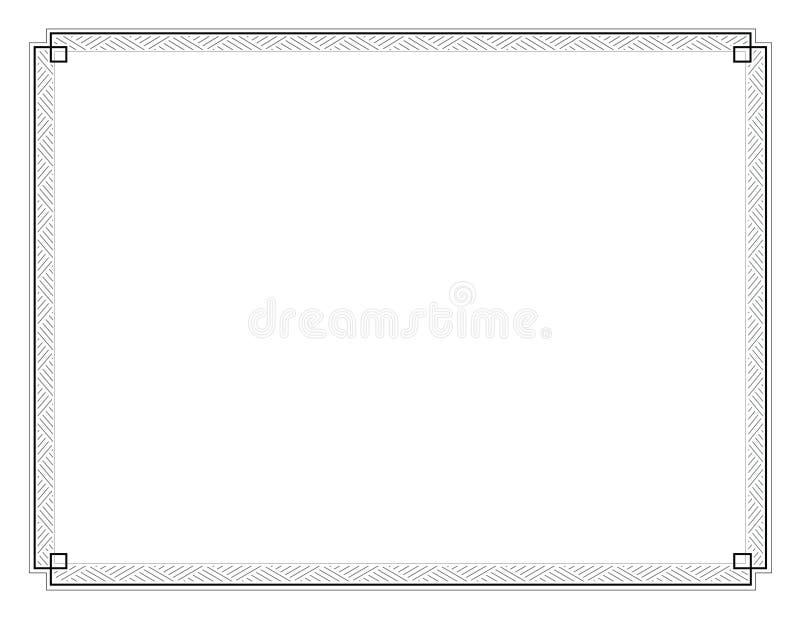 Brief-Gerangschikte de Grens van het certificaat 020 royalty-vrije illustratie