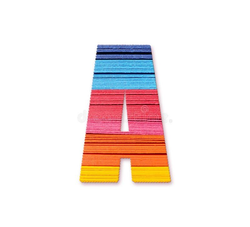 Brief A Het document van de regenboogkleur stock illustratie