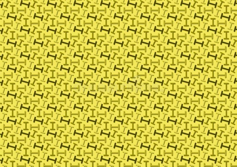 Brief I patroon in verschillende gekleurde schaduwen voor behang royalty-vrije illustratie