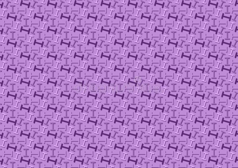 Brief I patroon in verschillende purpere gekleurde schaduwen voor behang vector illustratie
