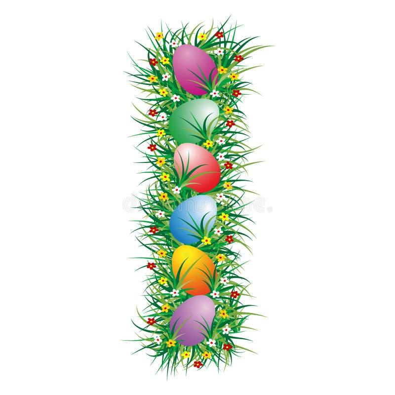 Brief I van Pasen stock illustratie