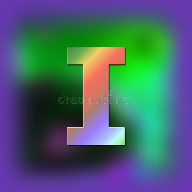 Brief I wordt geplaatst op de textuur vector illustratie